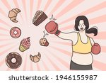 dieting  weight loss healthy... | Shutterstock .eps vector #1946155987