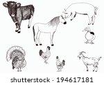 animals collection   vector... | Shutterstock .eps vector #194617181
