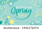 hello spring hand logotype ...   Shutterstock .eps vector #1946176474