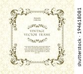vintage ornamental template... | Shutterstock .eps vector #194618081