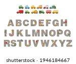 Track Road Alphabet. Kids...