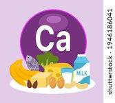 high calcium foods infographic...   Shutterstock .eps vector #1946186041