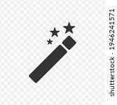transparent magic stick icon...