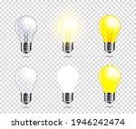 set of transparent light bulb ... | Shutterstock .eps vector #1946242474