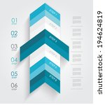 minimal infographics or step... | Shutterstock .eps vector #194624819