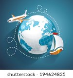 vector illustration of a world... | Shutterstock .eps vector #194624825