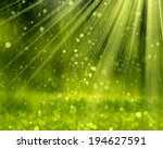 green background with beams ...