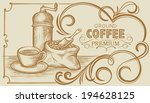 banner on coffee with still...   Shutterstock .eps vector #194628125