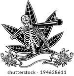 skull  guns and roses | Shutterstock .eps vector #194628611