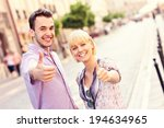 a picture of a happy couple... | Shutterstock . vector #194634965