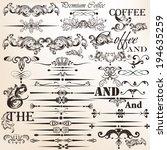 vector set of calligraphic... | Shutterstock .eps vector #194635259