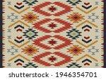 ethnic abstract ikat art....   Shutterstock .eps vector #1946354701