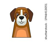 cute dog face icon. cartoon... | Shutterstock .eps vector #1946413051