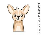 cute dog face icon. cartoon... | Shutterstock .eps vector #1946413324