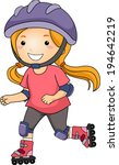 illustration of a little girl... | Shutterstock .eps vector #194642219