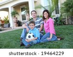 a happy family having fun... | Shutterstock . vector #19464229