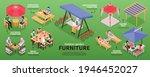 isometric garden furniture... | Shutterstock .eps vector #1946452027