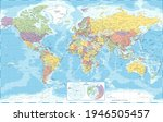 world map political and the... | Shutterstock .eps vector #1946505457