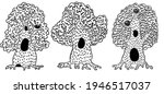 hand drawn woodland doodle.... | Shutterstock .eps vector #1946517037