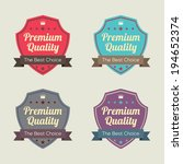 set of vintage retro labels | Shutterstock .eps vector #194652374
