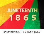 Juneteenth 1865 Poster  Vector...