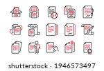 documents line icons set. copy... | Shutterstock .eps vector #1946573497