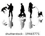 people and dogs | Shutterstock .eps vector #19465771