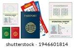 set of realistic blank passport ... | Shutterstock .eps vector #1946601814