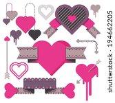 heart ribbon vector love | Shutterstock .eps vector #194662205