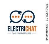 electric chat vector logo... | Shutterstock .eps vector #1946642431