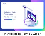website under construction... | Shutterstock .eps vector #1946662867