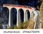 Train ride on mountain railroad ...