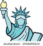 statue of liberty illustrations ...   Shutterstock .eps vector #1946690314