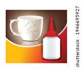 super glue creative advertising ... | Shutterstock .eps vector #1946695927