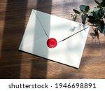 envelope back side with red wax ... | Shutterstock . vector #1946698891