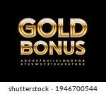 vector elite sign gold bonus....   Shutterstock .eps vector #1946700544