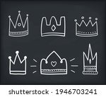 hand drawn doodle crowns  six...   Shutterstock .eps vector #1946703241