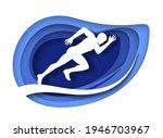 marathon runner  sprinter white ... | Shutterstock .eps vector #1946703967