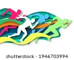 marathon runner  sprinter ... | Shutterstock .eps vector #1946703994