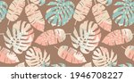 tropical seamless pattern with... | Shutterstock .eps vector #1946708227