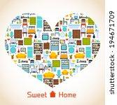 interior furniture sweet home...   Shutterstock .eps vector #194671709