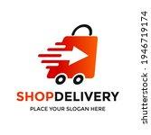 shop delivery vector logo... | Shutterstock .eps vector #1946719174