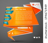 orange origami paper website...