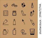medicine drug pharmacy dosage... | Shutterstock .eps vector #194672744