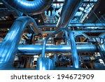 industrial steel pipelines and... | Shutterstock . vector #194672909