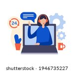 call center. customer support...   Shutterstock .eps vector #1946735227