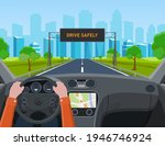 drive safely concept. the... | Shutterstock .eps vector #1946746924