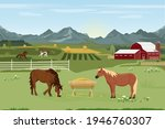 Vector Illustration Of A Horse...