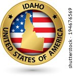 idaho state gold label with... | Shutterstock .eps vector #194676569