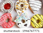 Assortment Of Decorated Donuts...